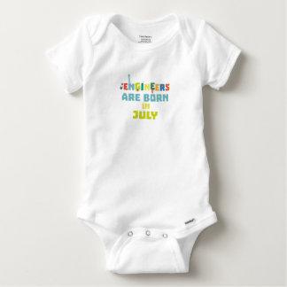 Body Para Bebé Los ingenieros son en julio Zw3c8 nacidos