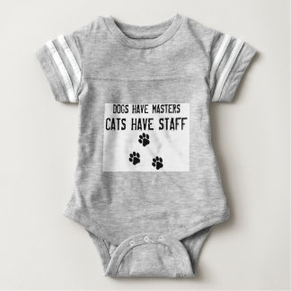 Body Para Bebé Los perros tienen gatos de los amos tener el