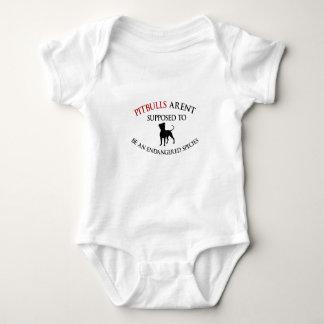 Body Para Bebé Los pitbulls diseñan lindo