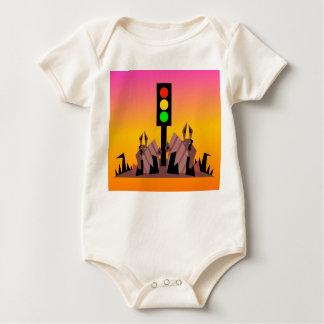 Body Para Bebé Luz de parada con los conejitos, fondo soñador