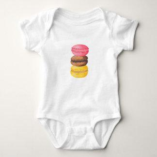 Body Para Bebé Macarrones de la acuarela de los dulces del