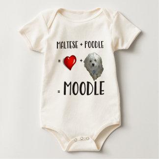 Body Para Bebé Maltés + Caniche = Moodle