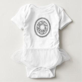 Body Para Bebé mandala de la flor del diente de león