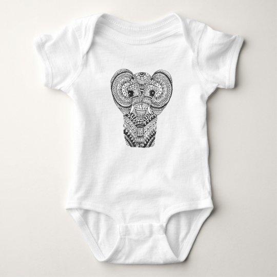 Body Para Bebé Mandala Onsie del elefante del bebé