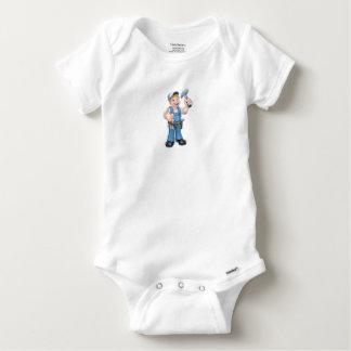 Body Para Bebé Manitas del carpintero del dibujo animado que