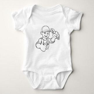 Body Para Bebé Manitas del mecánico o del fontanero con el dibujo