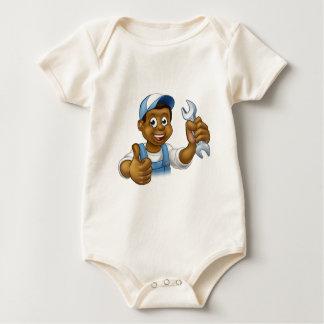 Body Para Bebé Manitas del mecánico o del fontanero con la llave