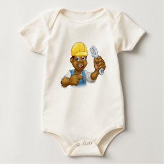 Body Para Bebé Manitas negra del mecánico o del fontanero