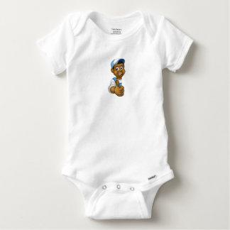 Body Para Bebé Manitas negra que mira a escondidas los pulgares
