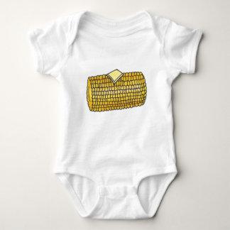 Body Para Bebé Mantequilla del maíz en la mazorca del amarillo de