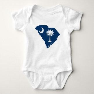 Body Para Bebé Mapa de la bandera de Carolina del Sur