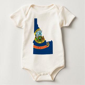 Body Para Bebé Mapa de la bandera de Idaho