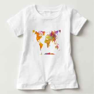 Body Para Bebé mapa del mundo