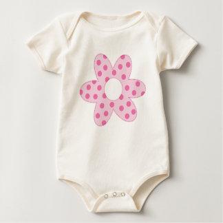Body Para Bebé Margarita rosada de la primavera