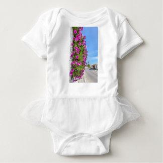 Body Para Bebé Margaritas españolas rosadas colgantes en la pared