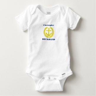 Body Para Bebé Marinero con nombre del barco y adorno del ancla