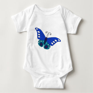 Body Para Bebé Mariposa azul