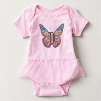 Body Para Bebé Mariposa con la letra D