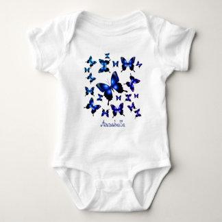 Body Para Bebé Mariposas caprichosas elegantes del azul real
