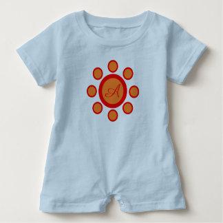 Body Para Bebé Maruthani del azul, del naranja y del rojo del