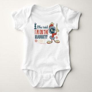 Body Para Bebé ¿MARVIN EL MARTIAN™- estoy en la lista traviesa?