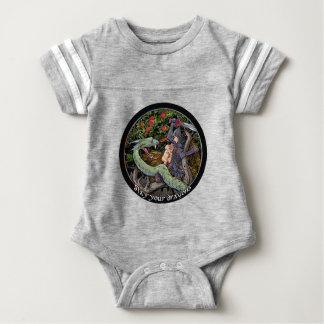 Body Para Bebé MATE SUS DRAGONES, arte medieval, Jordania