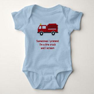 Body Para Bebé Me finjo soy un coche de bomberos y grito