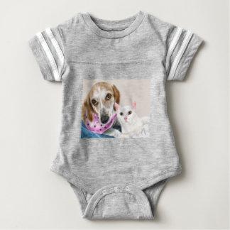 Body Para Bebé Mejores amigos del perro y del gato