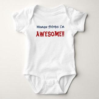 Body Para Bebé ¡Memaw piensa que soy impresionante! Mono del niño