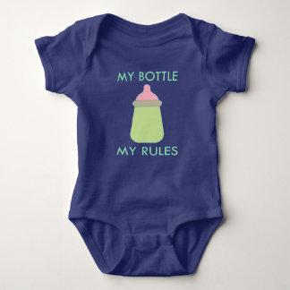Body Para Bebé Mi botella mi ropa del bebé de las reglas