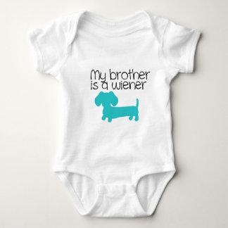 Body Para Bebé Mi Brother es una salchicha de Frankfurt (el