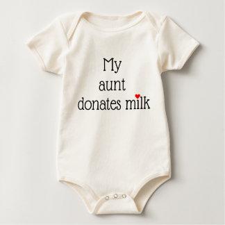 Body Para Bebé Mi __dona la leche con el pequeño corazón rojo