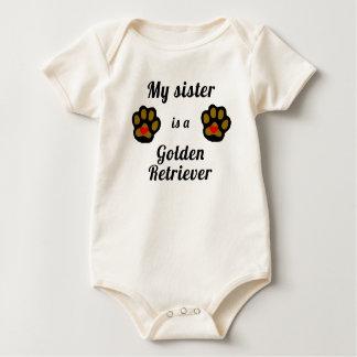 Body Para Bebé Mi hermana es un golden retriever
