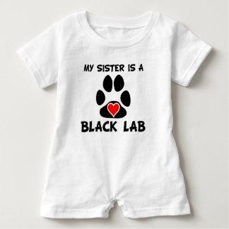 Body Para Bebé Mi hermana es un laboratorio negro