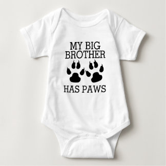 Body Para Bebé Mi hermano mayor tiene patas