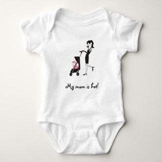 Body Para Bebé ¡Mi mamá es caliente! Enredadera del bebé