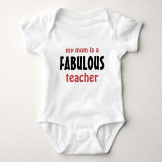 Body Para Bebé Mi mamá es profesor fabuloso