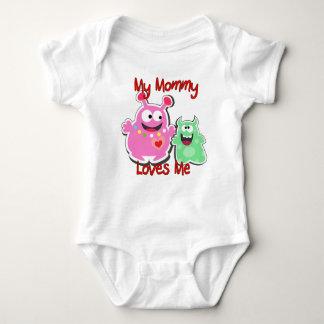 Body Para Bebé Mi mamá me ama monstruo