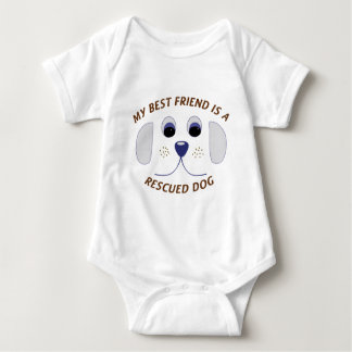 Body Para Bebé Mi mejor amigo es un perro rescatado
