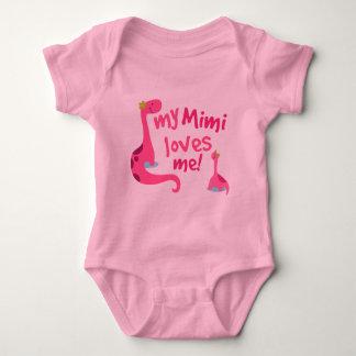 Body Para Bebé Mi Mimi me ama dinosaurio