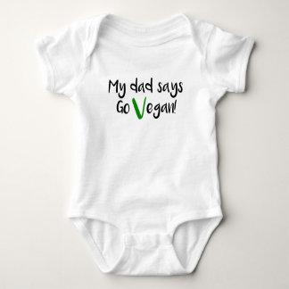 """Body Para Bebé """"Mi papá dice va vegano!"""" bebé"""