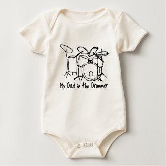Body Para Bebé Mi papá es el batería