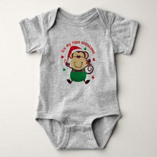 Body Para Bebé Mi primer mono de Santa del navidad