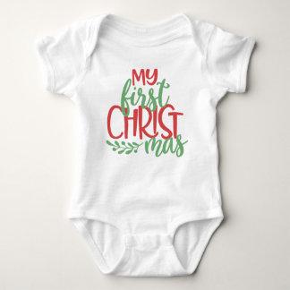 Body Para Bebé Mi primer mono del bebé del navidad