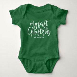 Body Para Bebé Mi primer navidad (con nombre)