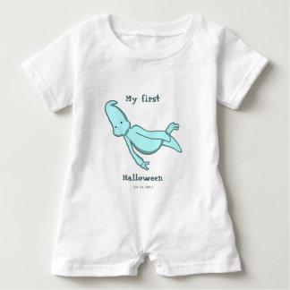 Body Para Bebé Mi primera turquesa personalizada de Halloween