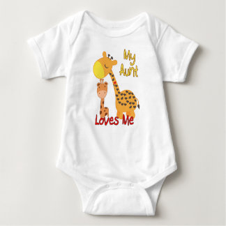 Body Para Bebé Mi tía Loves Me Giraffe