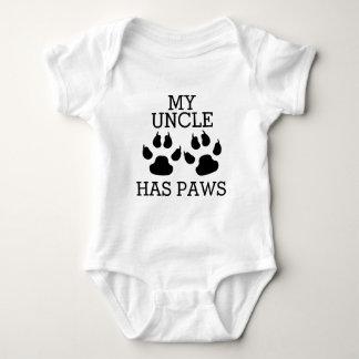 Body Para Bebé Mi tío Has Paws