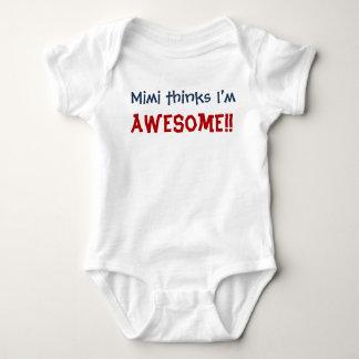 Body Para Bebé ¡Mimi piensa que soy impresionante! Mono del niño
