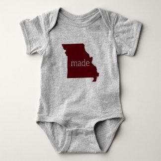 Body Para Bebé Missouri hizo el mono del bebé {marrón y el gris}